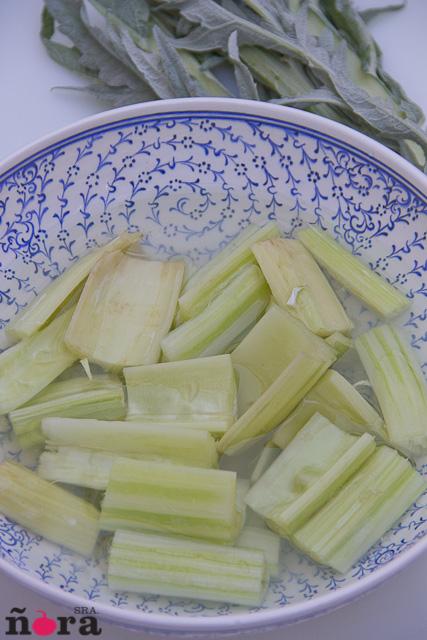 Cardos en salsa blanca-4