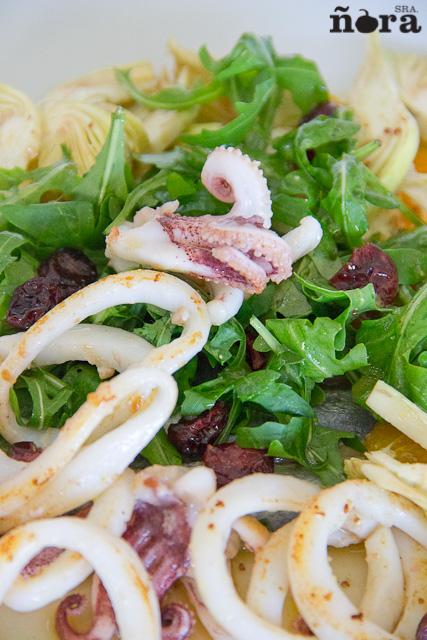 Ensalada de sardina y calamar con vinagreta de citrico-4
