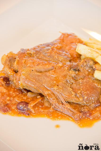 Pollo en salsa de almendras-5
