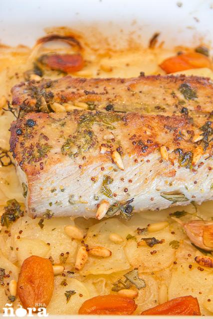 Lomo de cerdo ib rico al horno afreirpimientos Solomillo iberico al horno